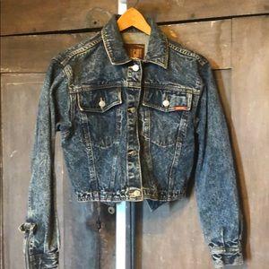 VTG 1986 Jordache cropped jean Jacket acid wash